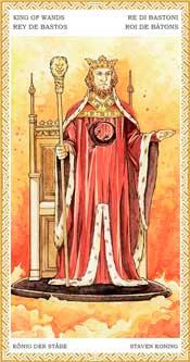 Rey de Bastos - Arcanos Menores del Tarot