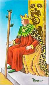 Rey de Bastos en posición vertical - Tarot10