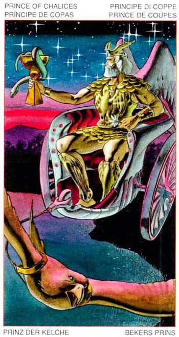 Rey de Copas - Arcanos Menores - Golden Dawn Tarot