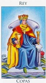 Rey de Copas - Arcanos Menores del Tarot - Cartas de LA Corte - Radiant