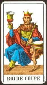 Rey de Copas en posición Vertical - Tarot10