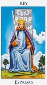 Rey de Espadas - Arcanos Menores del Tarot - Cartas de LA Corte - Radiant