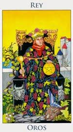 Rey de Oros - Arcanos Menores del Tarot - Cartas de LA Corte - Radiant