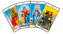 Reyes de los Arcanos Menores del Tarot - GRID