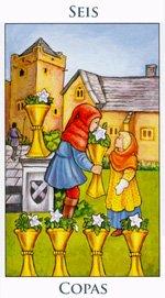 Seis de Copas - Arcanos Menores del Tarot - Radiant