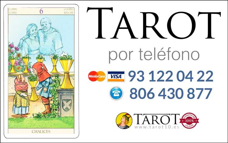 Seis de Copas de los Arcanos Menores del Tarot - Tarot por Teléfono