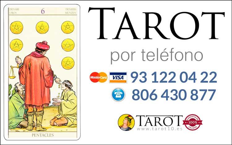 Seis de Oros de los Arcanos Menores del Tarot - Tarot por Teléfono