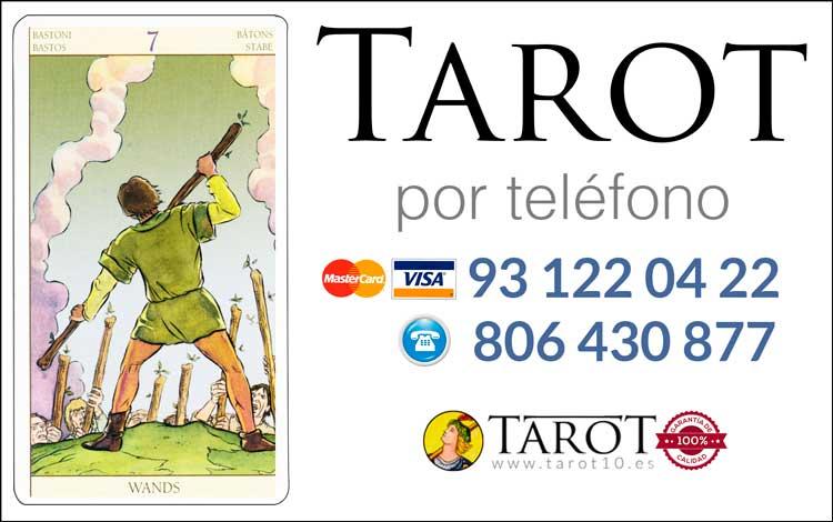 Siete de Bastos de los Arcanos Menores del Tarot - Tarot por Teléfono