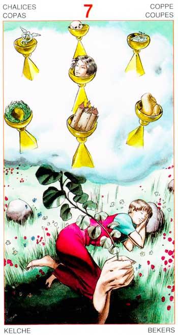 Siete de Copas - Arcanos Menores - Golden Dawn Tarot