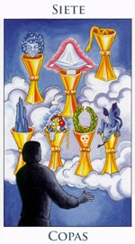 Siete de Copas - Arcanos Menores del Tarot - Radiant