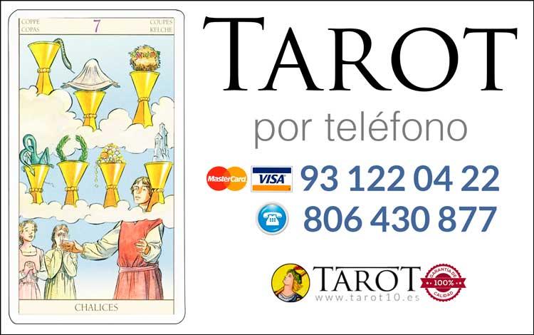 Siete de Copas de los Arcanos Menores del Tarot - Tarot por Teléfono
