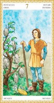 Siete de Oros - Arcanos Menores del Tarot