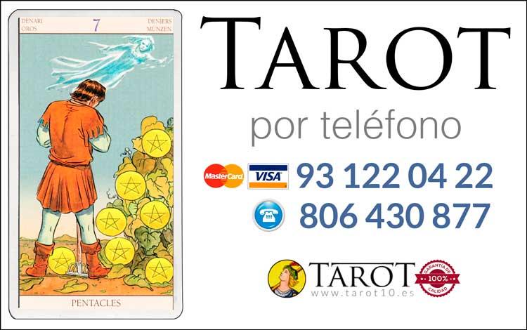 Siete de Oros de los Arcanos Menores del Tarot - Tarot por Teléfono