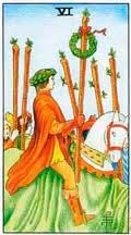 Significado del 6 de Bastos - Tarot10