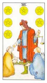 Significado del 6 de Oros - Tarot10