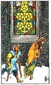 Simbología del 5 de Oros - Tarot10