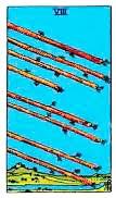 Simbología del 8 de bastos - Tarot10