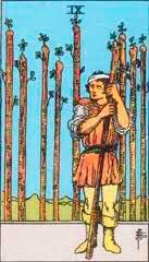 Simbología del 9 de Bastos - Tarot10