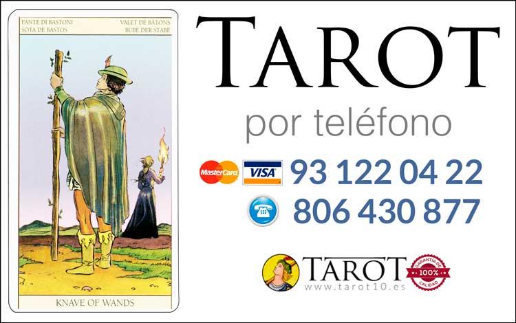 Sota de Bastos de los Arcanos Menores del Tarot - Tarot por Teléfono