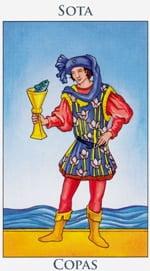 Sota de Copas - Arcanos Menores del Tarot - Radiant
