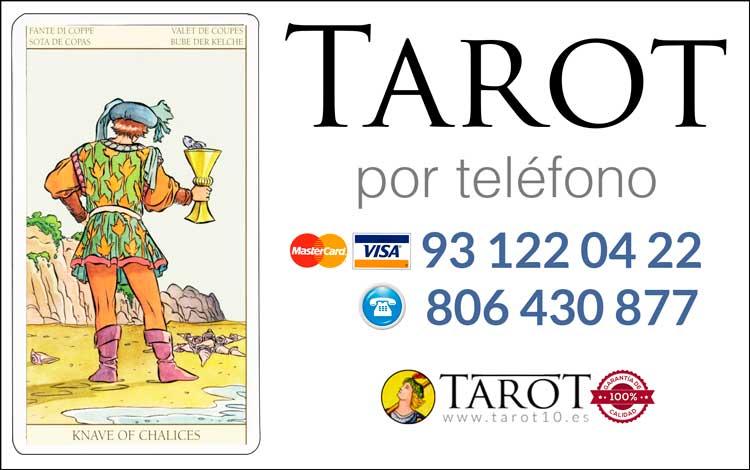 Sota de Copas de los Arcanos Menores del Tarot - Tarot por Teléfono