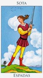 Sota de Espadas - Arcanos Menores del Tarot - Radiant
