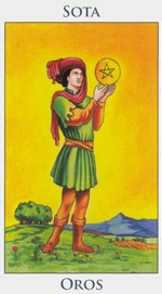 Sota de Oros - Arcanos Menores del Tarot - Radiant