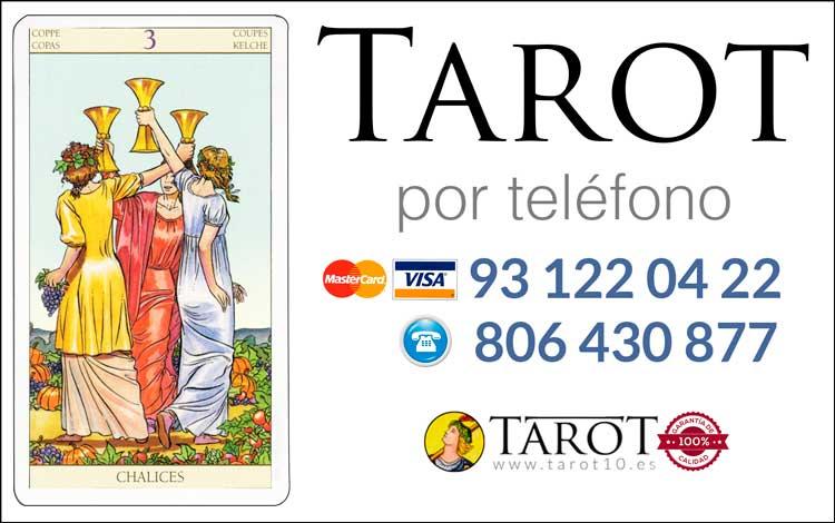 Tres de Copas de los Arcanos Menores del Tarot - Tarot por Teléfono