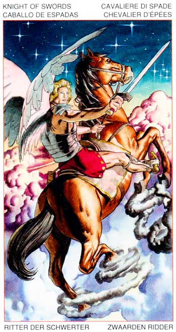 Caballo de Espadas - Arcanos Menores - Golden Dawn Tarot