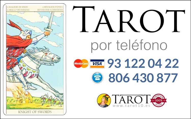 Caballo de Espadas de los Arcanos Menores del Tarot - Tarot por Teléfono