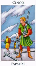 Cinco de Espadas - Arcanos Menores del Tarot - Radiant