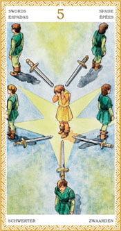 Cinco de Espadas - Arcanos Menores del Tarot