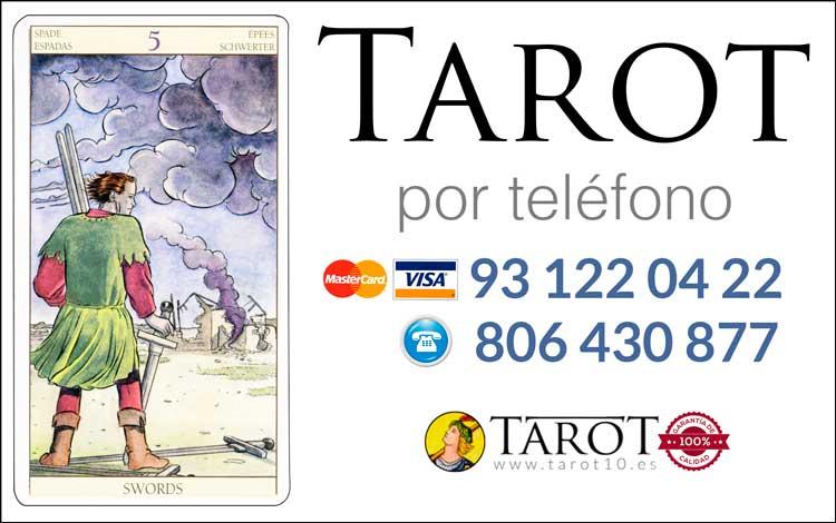 Cinco de Espadas de los Arcanos Menores del Tarot - Tarot por Teléfono