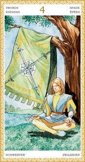 Cuatro de Espadas - Arcanos Menores del Tarot