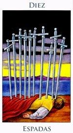 Diez de Espadas - Arcanos Menores del Tarot - Radiant