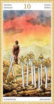 Diez de Espadas - Arcanos Menores del Tarot