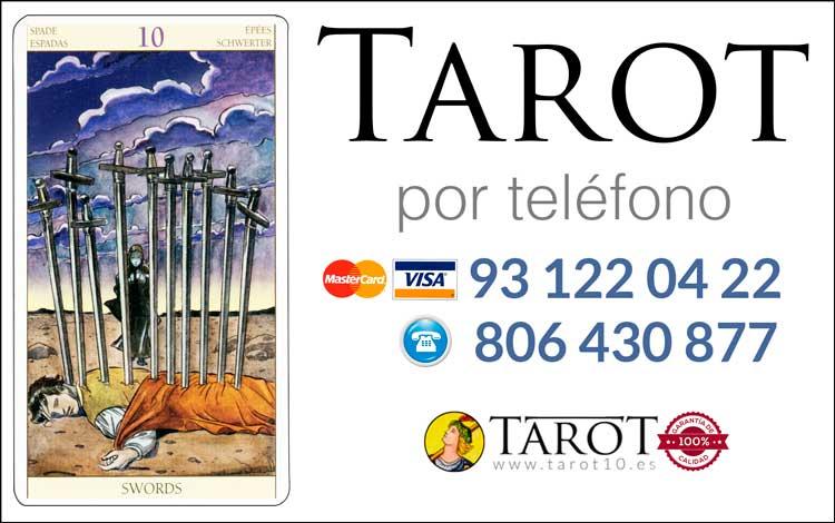 Diez de Espadas de los Arcanos Menores del Tarot - Tarot por Teléfono