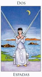 Dos de Espadas - Arcanos Menores del Tarot - Radiant