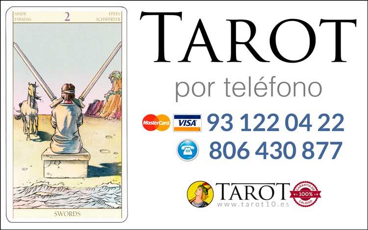 Dos de Espadas de los Arcanos Menores del Tarot - Tarot por Teléfono