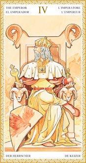 El Emperador - Arcanos Mayores del Tarot Dorado
