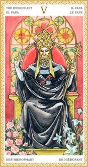 El Sumo Sacerdote - Arcanos Mayores del Tarot Dorado