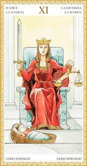 La Justicia - Arcanos Mayores del Tarot Dorado