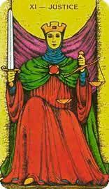 La Justicia en posición inversa - Arcanos Mayores del Tarot - Tarot10