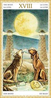 La Luna - Arcanos Mayores del Tarot Dorado