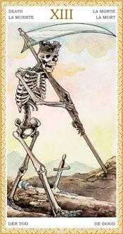 La Muerte - Arcanos Mayores del Tarot Dorado
