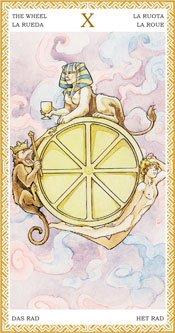 La Rueda de la Fortuna - Arcanos Mayores del Tarot Dorado