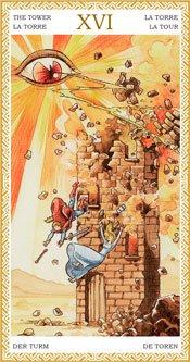 La Torre - Arcanos Mayores del Tarot Dorado
