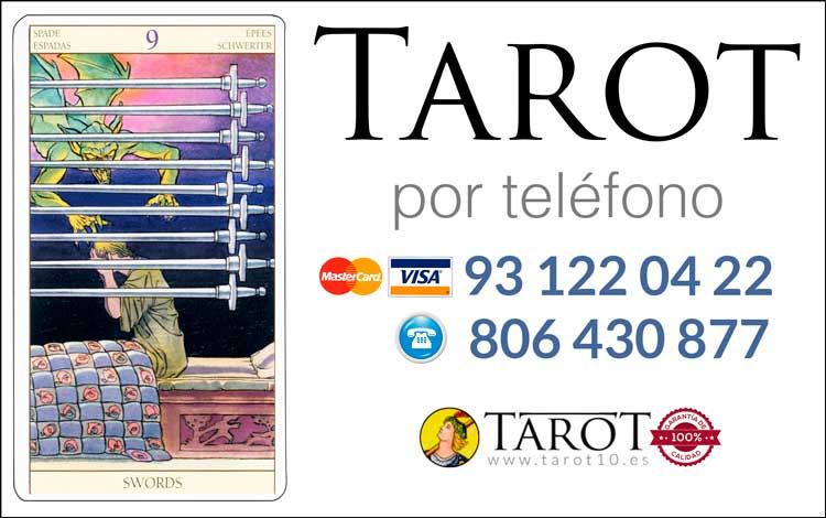 Nueve de Espadas de los Arcanos Menores del Tarot - Tarot por Teléfono