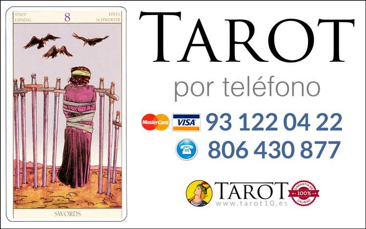 Ocho de Espadas de los Arcanos Menores del Tarot - Tarot por Teléfono