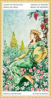 Reina de Oros - Arcanos Menores del Tarot
